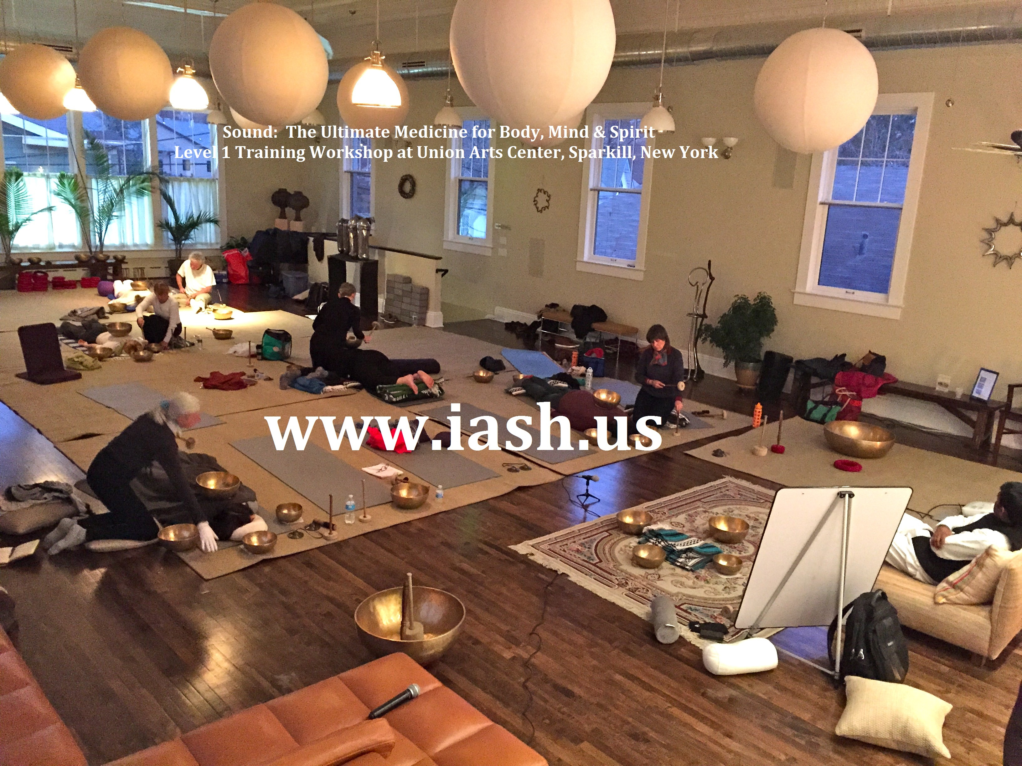 "IASH Sound Bath & meditation for ""Cancer Care"" with Planetary Gong Bells & Singing Bowls, October 1, 2018, New York City"
